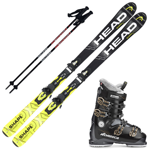 [16/17] SHAPE PX + [17/18] SPORTSMACHINE 75W + [17/18] NORDICA POLE