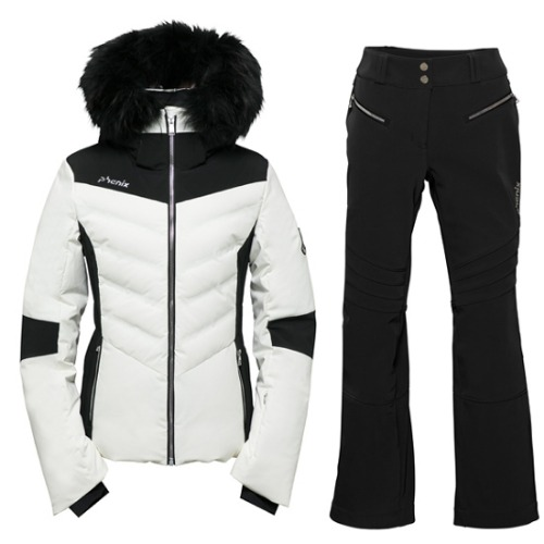 [18/19] CHOLE HYBRID DOWN JACKET WIHT FUR OW2 + RITA JET PANTS BK